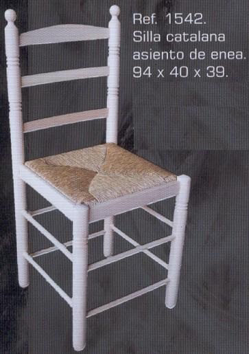 1542 silla catalana asiento de enea 1542 sillas - Muebles montemayor ...